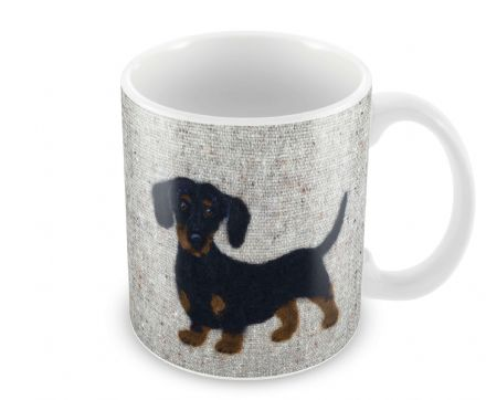 Dachshund Ceramic Earthenware Mug by Sharon Salt